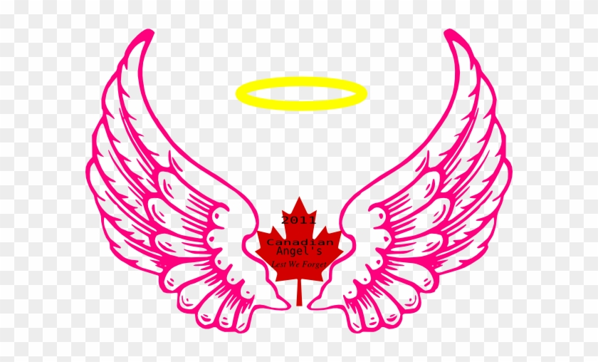 Canadian Wing Angel Halo 2 Clip Art - Angel Wing Drawing Png #54162