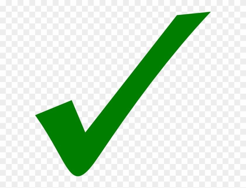 Green Check Mark Transparent #54235