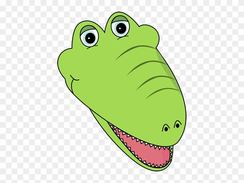 Right Facing Right Facing Alligator Face - Alligator Face Clip Art #54298