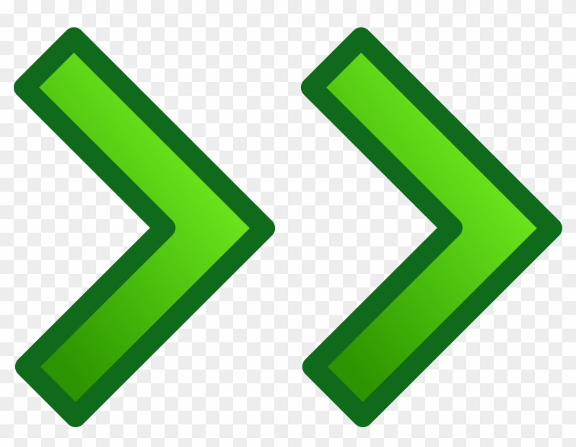 Green Right Double Arrows Set Clip Art At Clker Com - Red Green Arrow Icon #54301