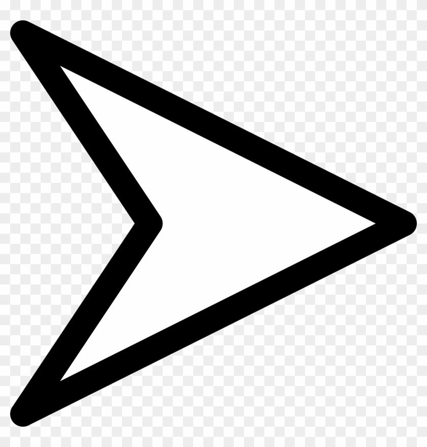 Plain Right White Arrow Clip Art At Clker Com Vector - White Arrow Png Transparent #54333