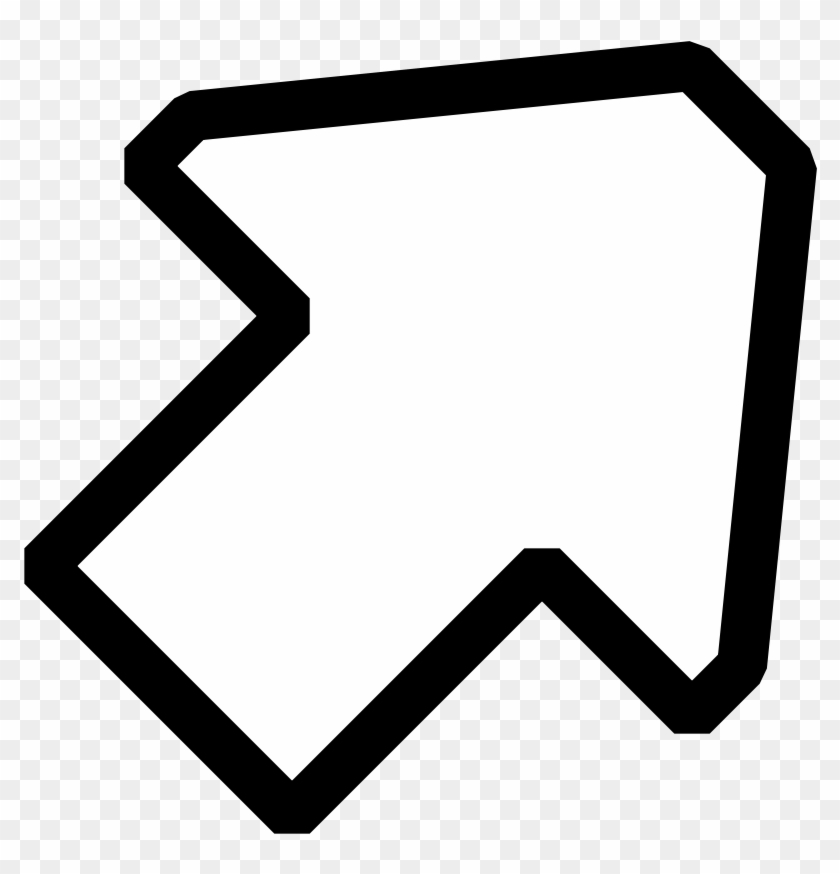 Most Interesting Arrow Clipart Black And White Up Right - White Arrow Up Right #54550