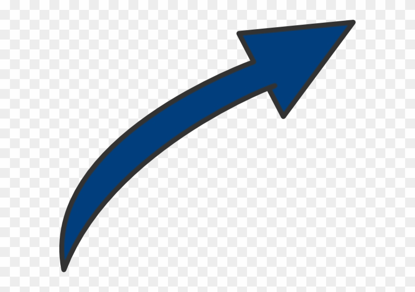Curved Arrow Clip Art At Clker Com Vector Online Bent - Long Curved Arrow Clipart #54557