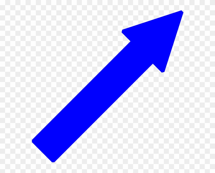 Blue Arrow Right Down Clip Art At Clker - Arrow Pointing Up Right #54627