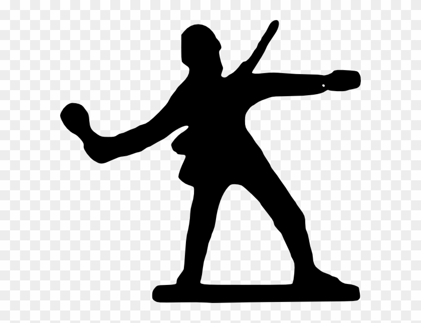 Wwii Soldier Silhouette Clipart - Toy Soldier #54680