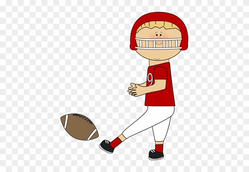 Football Player Clip Art - Kicking A Football Clip Art #54745
