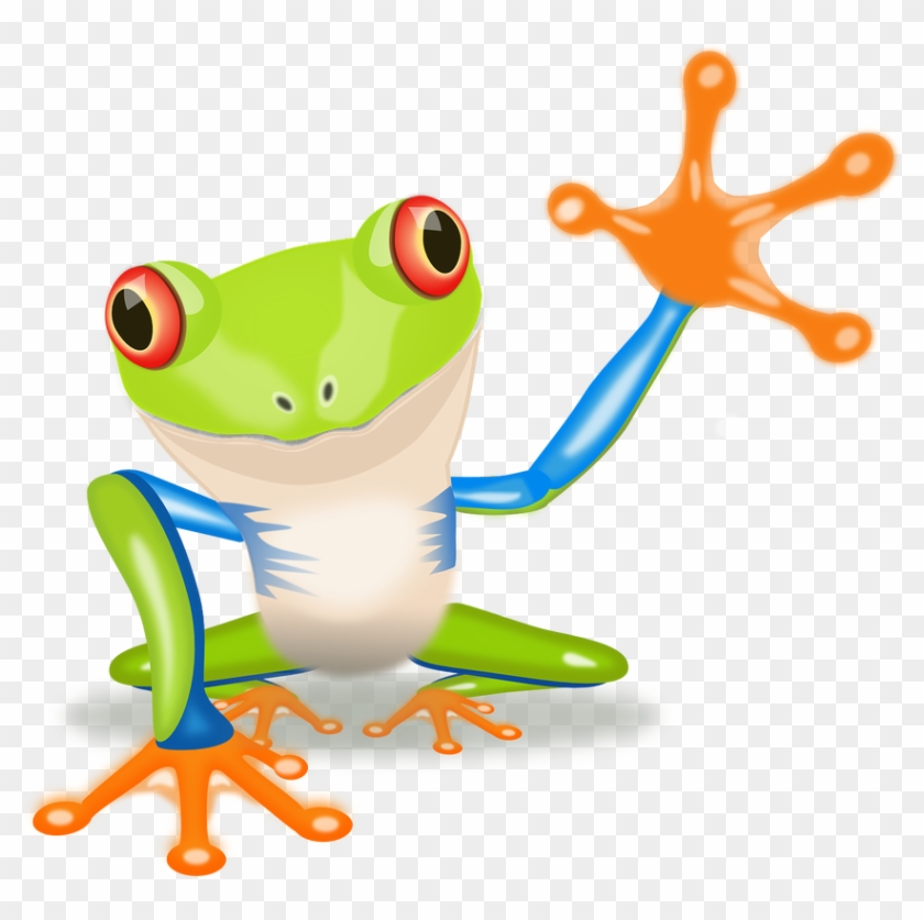 Waving Frog Clip Art At Clipart Library - Red Eyed Tree Frog Clipart #54848