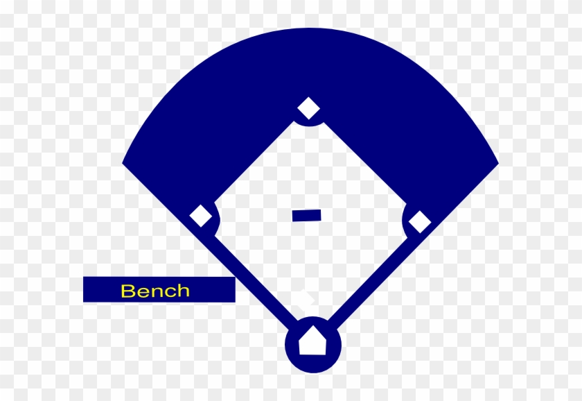 Baseball Field Blue Clip Art - Baseball Field Black And White Cartoon #55018