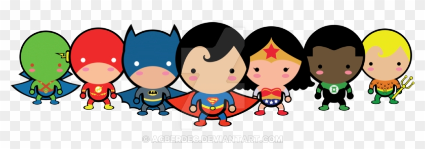 Cute Justice League By Acberdec On Deviantart - Logo Chibi Justice League #55275