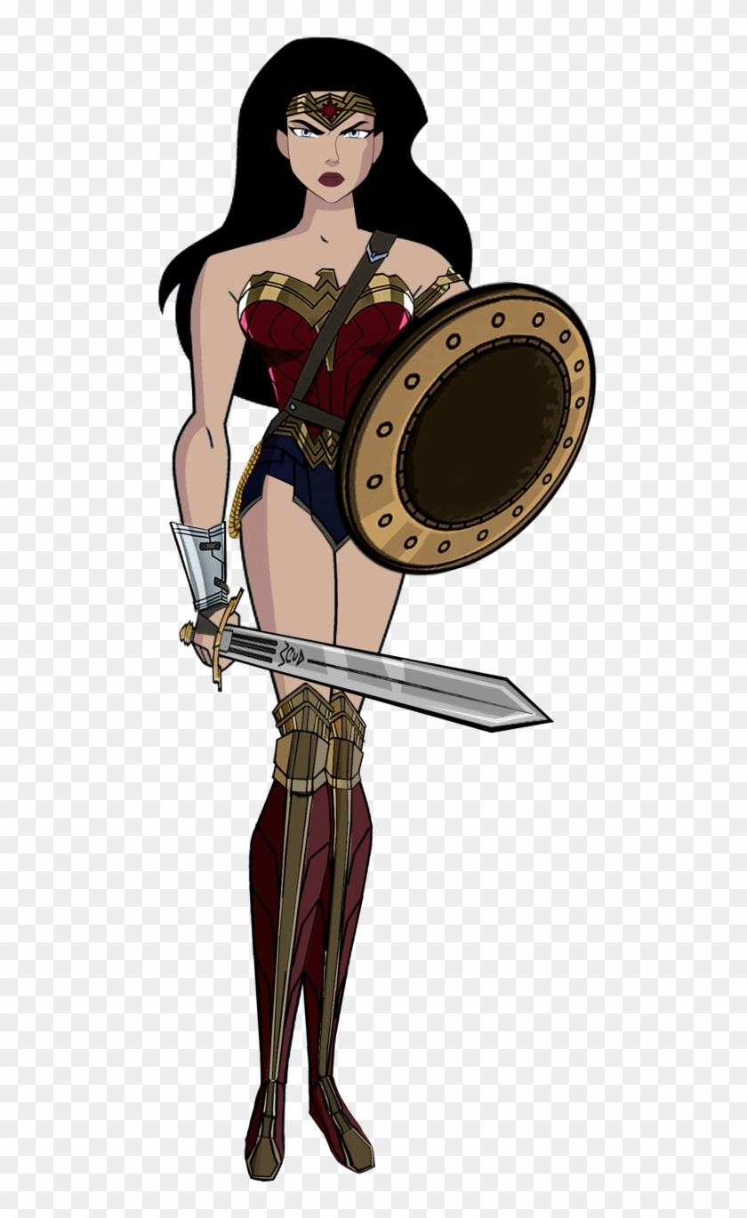 Jl Wonder Woman Dawn Of Justice By Alexbadass - Wonder Woman With Sword And Shield #55334