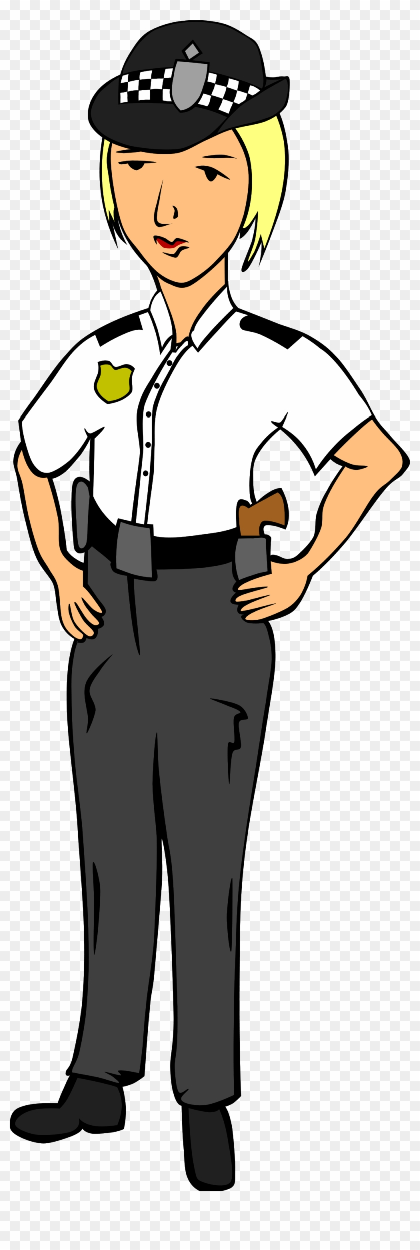 Free Vector Woman Police Officer Clip Art - Police Officer Cartoon Uk #55344