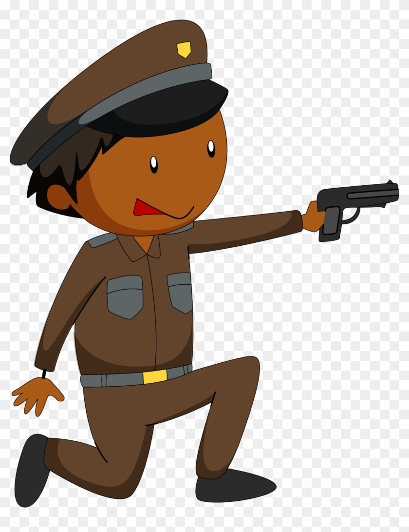 Police Officer Royalty-free Clip Art - Police With Gun Clipart #55606