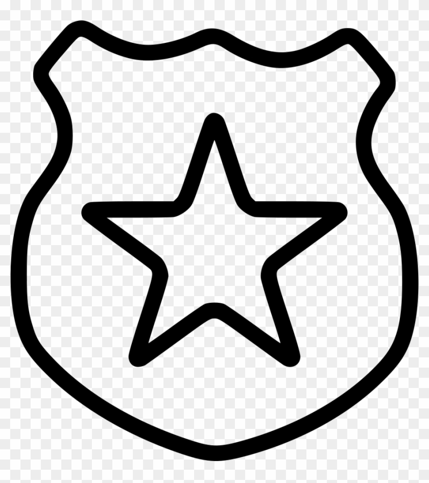Police Department Comments - Star Outline Icon Png #55641