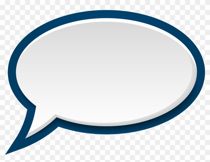 High Quality Clipart - Blue Speech Bubble Png #55719