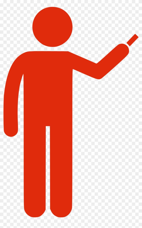 Onlinelabels Clip Art - Icono Persona Rojo Png #55717