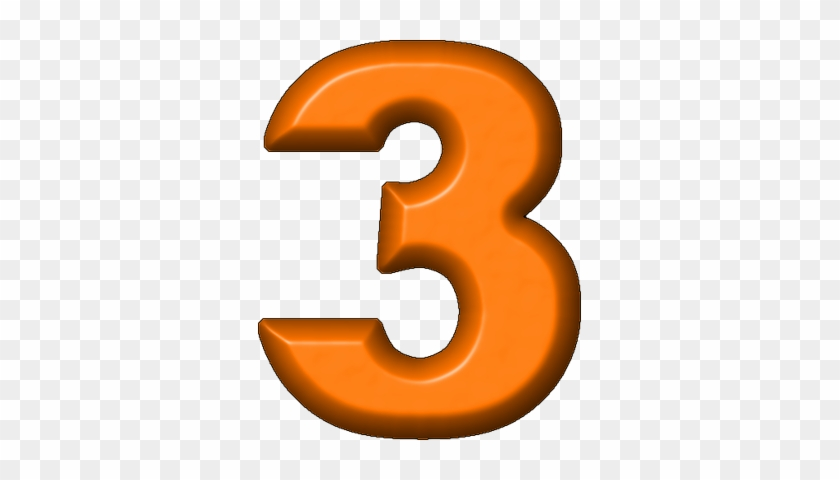Orange Clipart Number 3 - Green Number Three #55728