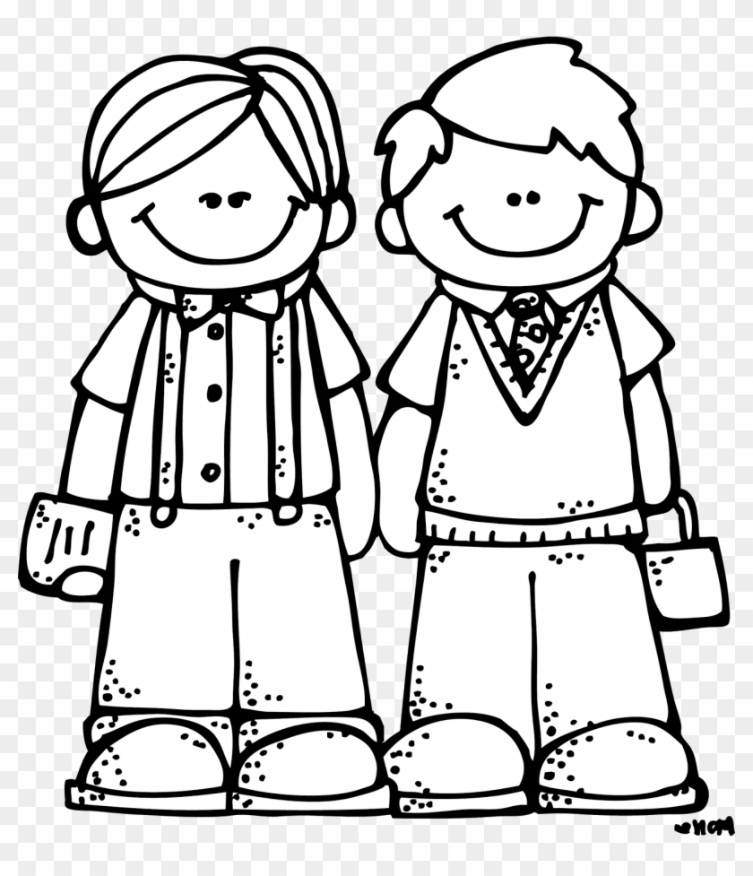 Friends Clipart Black And White Png - Friends Black And White Clip Art #55786