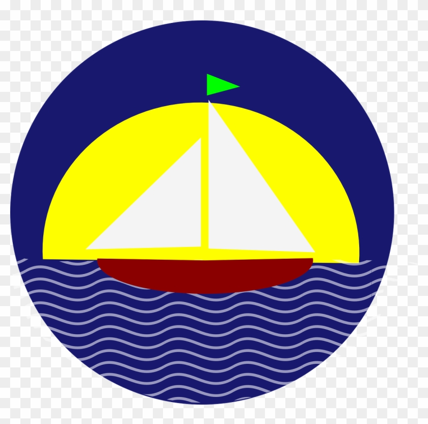 Boat And Sunset Clipart Sail At Clip Art Clker Com - Sail Boat And Sun Clip Art #55869