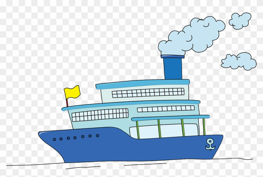 Cruise Ship Drawing Clip Art Cartoon Ship Drawing Free Transparent Png Clipart Images Download