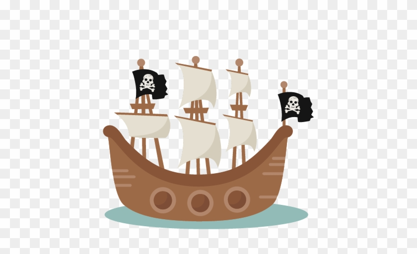 Pig Clip Art Wallpapers - Transparent Background Pirate Ship Clipart #56026
