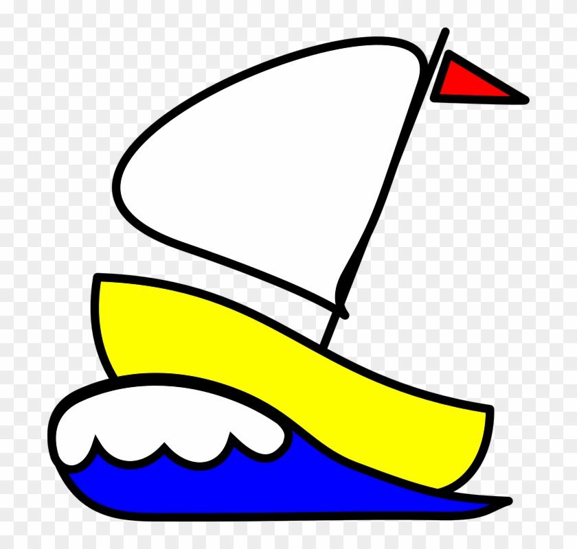 Sailboat Sailing Boat Ship Waves Ocean Boat - Sail Boat Clip Art #56046
