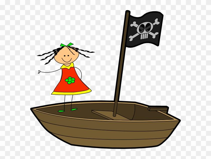Sailing Girl Clip Art - Boat Clip Art #56242