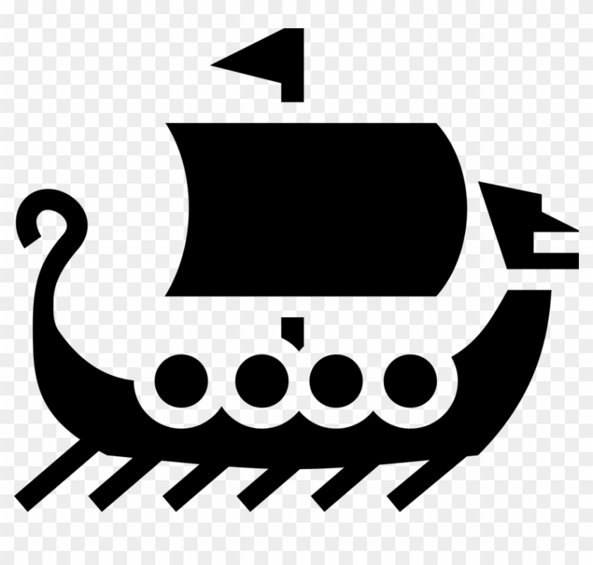 boat icon sailing ship simple symbols viking stories of norse gods