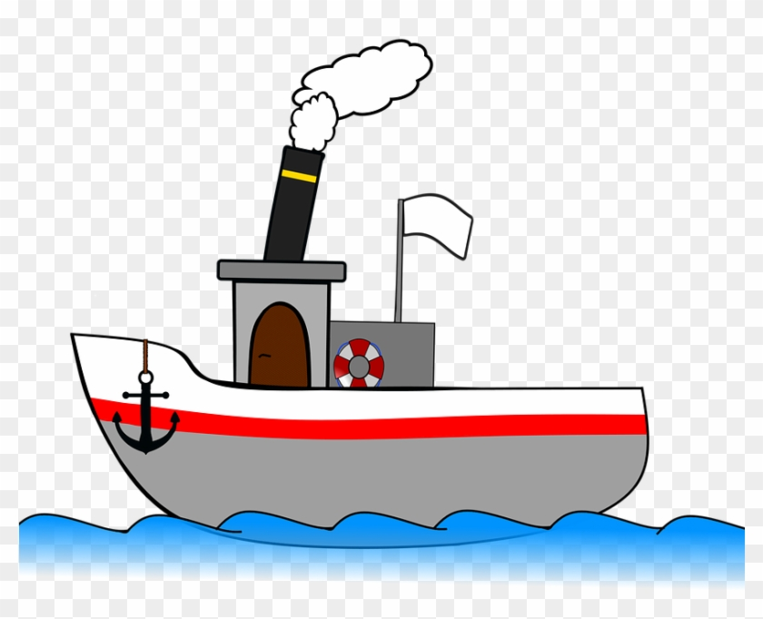 Steamboat Ship Steamer Seafaring Sea Travel Boat - Steam Boats Cartoons #56335