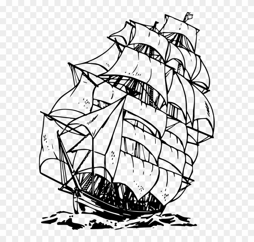 Sailing Ship Ocean Sea Water Voyage