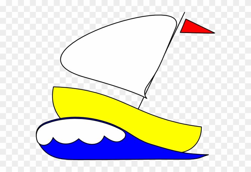 Yellow Yacht Clipart #56420