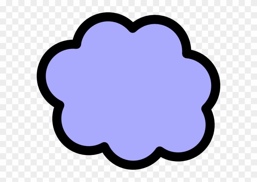 Light Blue Cloud Clip Art At Clker - Clipart Light Purple Cloud #56490