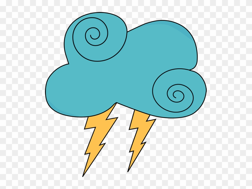 Dark Blue Swirly Cloud And Lightning - Raining Clouds Clip Art #56496