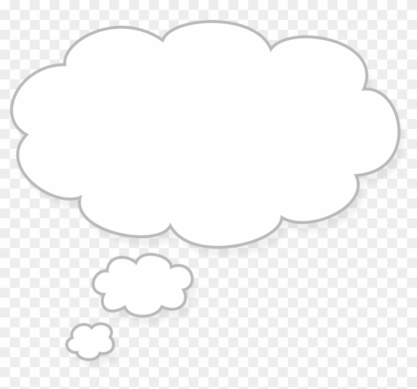 Thought Cloud Free Images At Clker Com Vector Clip - White Thought Bubble Transparent #56545