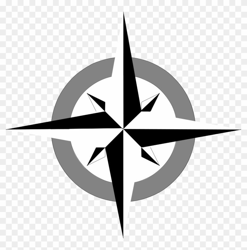 Free Vector Compass Rose Clip Art - Compass Rose Clip Art #56579