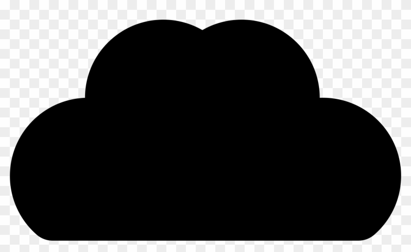 Cloud Icon Silhouette - Cloud Silhouette Png #56610