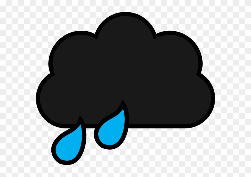 Black Rain Cloud Cartoon #56628