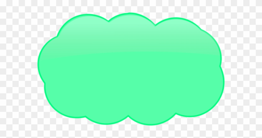Thinking Cloud Logo Clipart - Green Thought Bubble #56630