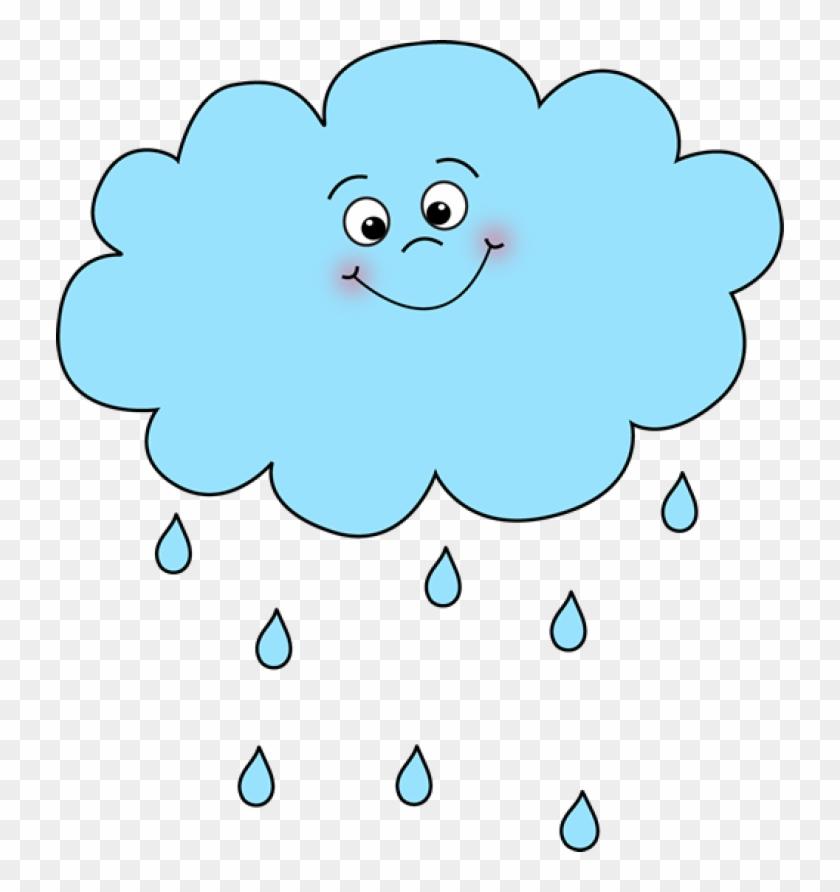 Happy Rain Cloud - Cartoon Picture Rain Cloud #56634