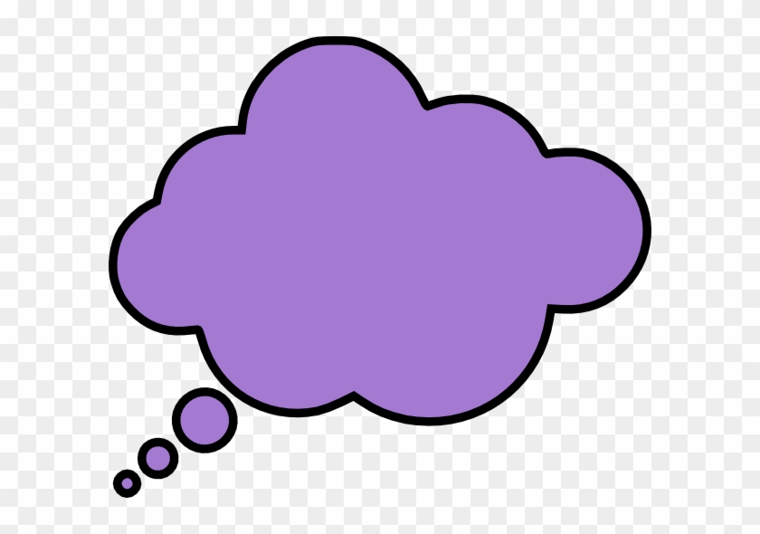 Thinking Cloud Clip Art - Colorful Thought Bubble Png #56636