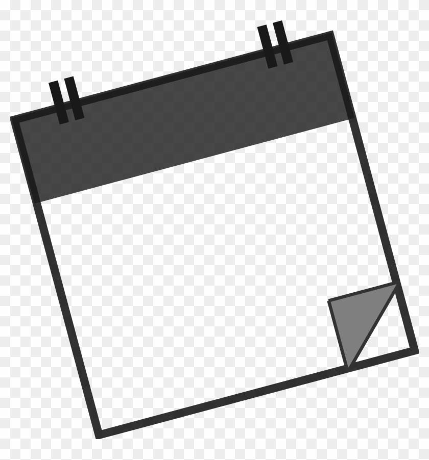 Big Image - Calendar Clip Art Black And White #56661