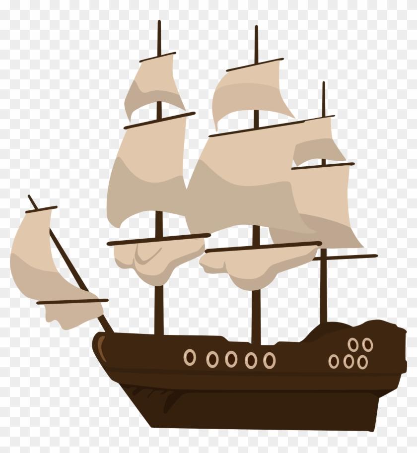 Big Image - Pirate Ship Clip Art #56823