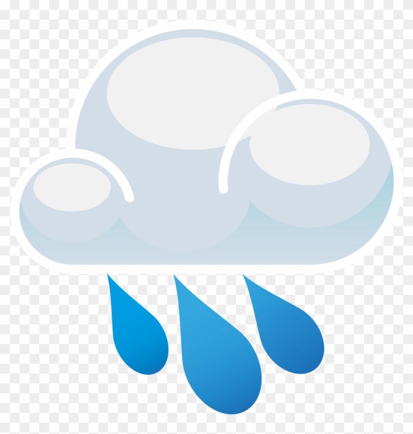 Clip Art Rain Showers Clip Art - Rain Cloud Png #56886