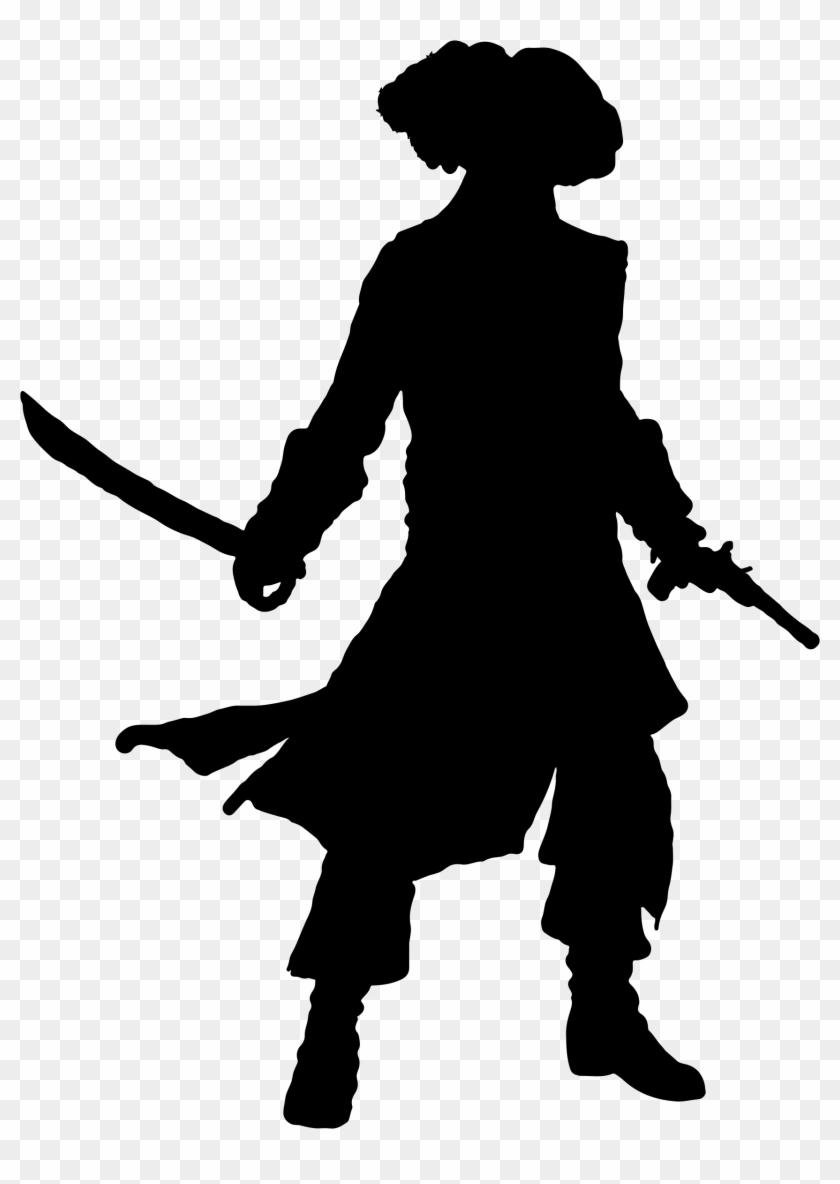 Pirate Clipart Silhouette - Silhouette Of A Pirate #56949
