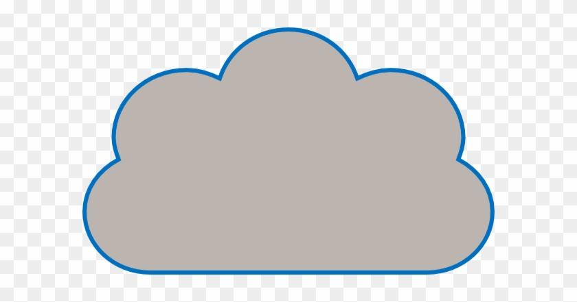 Cloud Clip Art - Cloud With Flat Bottom #56956