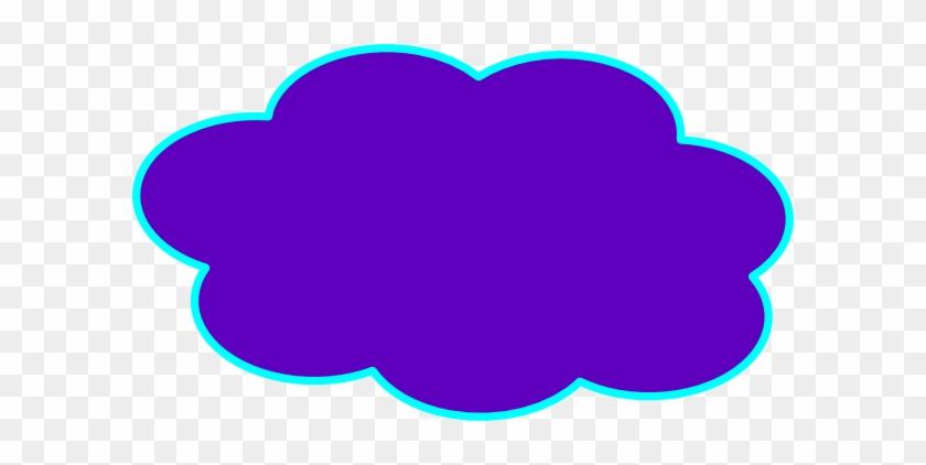 Purple Cloud Clip Art At Clker - Blue Cloud Clipart #56964