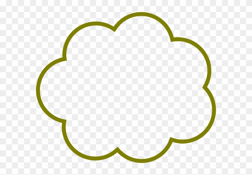 Green Cloud Clip Art - Thought Cloud #57009
