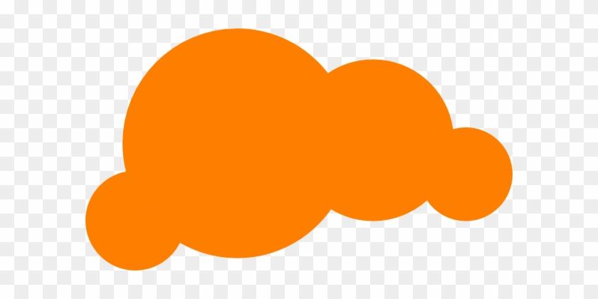Orange Cloud Clip Art - Orange Cloud Png #57011