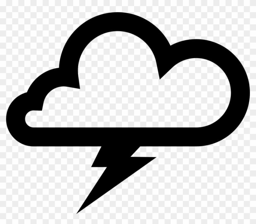 Cloud Clip Art - Thunder Cloud Vector #57063