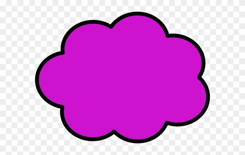 Thought Bubble Svg Clip Arts 600 X 452 Px - Bubble Cloud Clip Art #57070