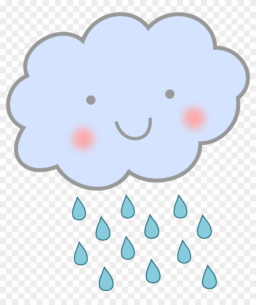Rain Cloud Clipart - Cartoon Rain Cloud #57082
